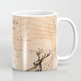 Stags walking the map Coffee Mug