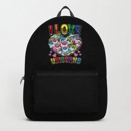 I Love Unicorns - Heart Full Of Mythical Creatures Backpack
