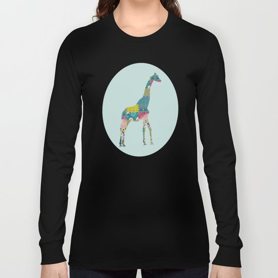 Patchwork Giraffe Long Sleeve T-shirt