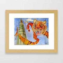 Tiger rug kites Framed Art Print
