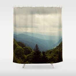 THE LIGHT THROUGH THE CLOUDS Shower Curtain