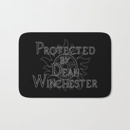 Protected by Dean Winchester Bath Mat
