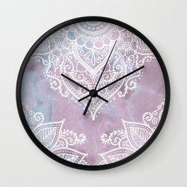PASTEL MARBLE MANDALA Wall Clock