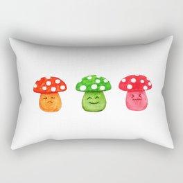 funny mushroom watercolor painting Rectangular Pillow