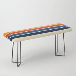 Classic Retro Stripes Bench