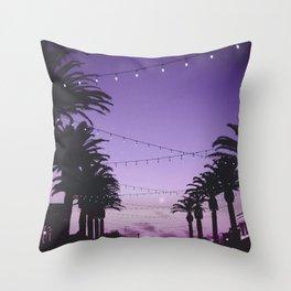 Tropical Summer Night Throw Pillow