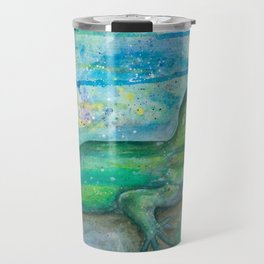 green basilisk Travel Mug