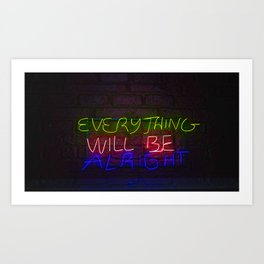 Everything in Neon Art Print