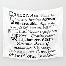 Dancer Description Wall Tapestry