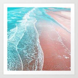 Sea Blue + Rose Gold Art Print
