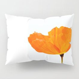 One And Only - Orange Poppy White Background #decor #society6#buyart Pillow Sham