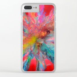 RED PANDORA - FLUID ABSTRACT PAINTING Clear iPhone Case