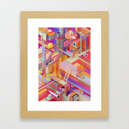 dreaming in technicolor Framed Art Print