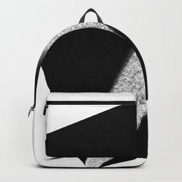White Flash on Black Backpack