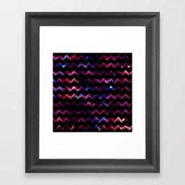 Galaxy Chevron Framed Art Print