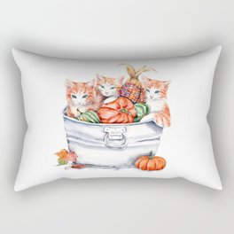 Harvest Kittens Rectangular Pillow