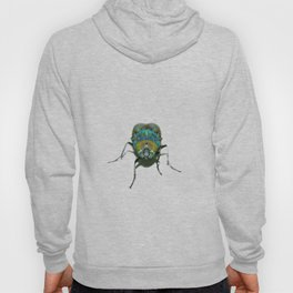 Blue Green Psychedelic Fly  Hoody