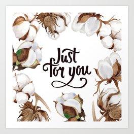 Cotton Flower Frame 02 Art Print