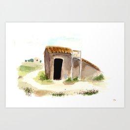 Tomb Entrance Art Print