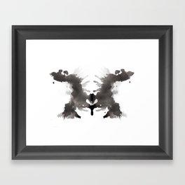 Rorschach test 3 Framed Art Print