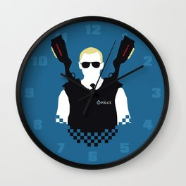 Here Come The Fuzz Wall Clock