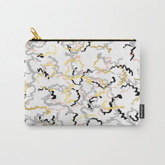 Mikki - gold pastel rose pink abstract painting brushstrokes minimal modern urban hipster street Carry-All Pouch