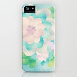 Flowers In Blue Background iPhone Case