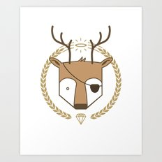 Mr. Deer Art Print