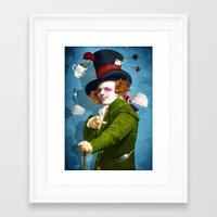 mad hatter Framed Art Prints featuring Mad Hatter by Diogo Verissimo