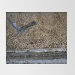 Flight of the Heron No. 1 Throw Blanket