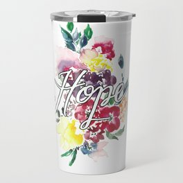 Hope Floral Travel Mug