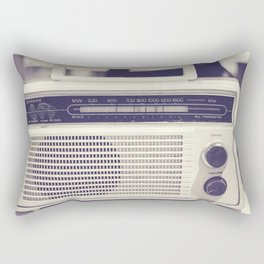 "on the radio... ""ANALOG zine""  Rectangular Pillow"