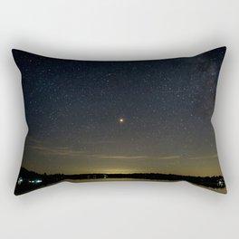 Mars Milky Way and Stars on Lake Rectangular Pillow