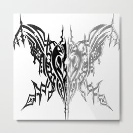 Tribal Arachne Plated and Black Metal Print