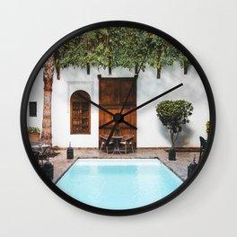 Riad in Marrakesh Wall Clock