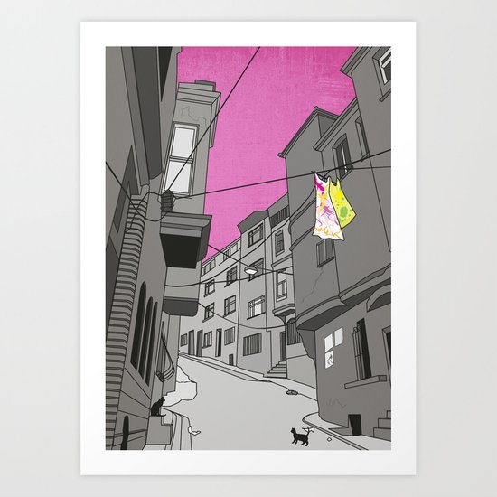 Historical Street View Art Print