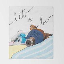 sleepy puppy Throw Blanket