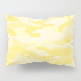 light Yellow Military Camouflage Pattern Pillow Sham