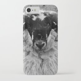 Scottish Blackface Ram Portrait iPhone Case