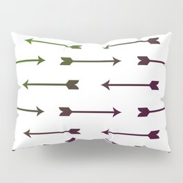 Purple and Green Arrows Pillow Sham