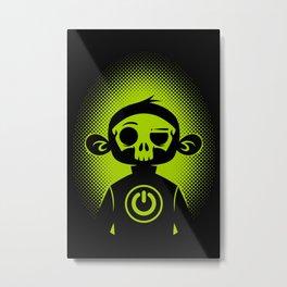 Power Skull Metal Print