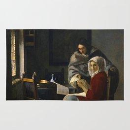 "Johannes Vermeer ""Girl Interrupted at Her Music"" Rug"