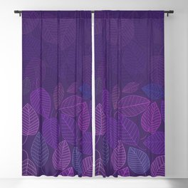LEAVES ENSEMBLE ULTRA VIOLET Blackout Curtain