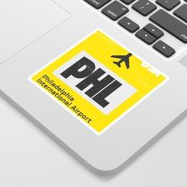 PHL Philadelphia airport code yellow Sticker