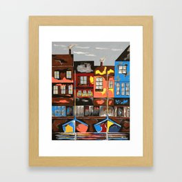 Picturesque And Docked Framed Art Print