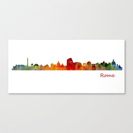 Rome city skyline HQ v01 Canvas Print