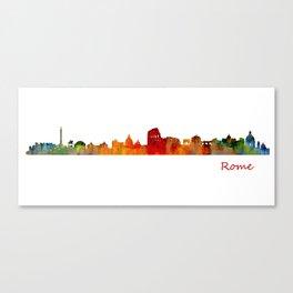 Rome city skyline HQ v01 Canvas Print