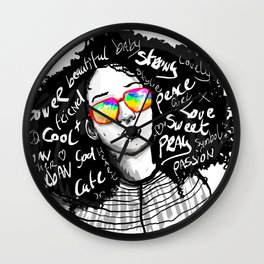 urban woman Wall Clock