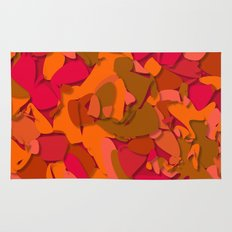 red camouflage Rug