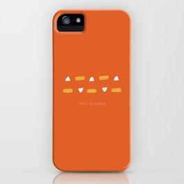 Happy Halloween Candy Corn iPhone Case